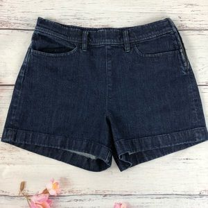 J. CREW dark denim high rise jean shorts size 27